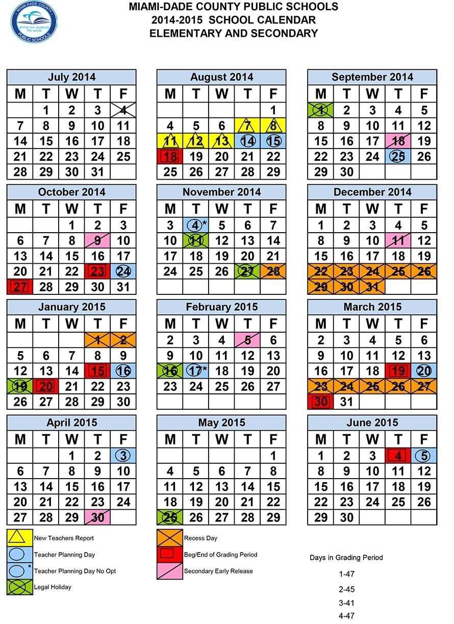 Dade Schools Calendar   Isacl_Calendar School Year Miami Dade