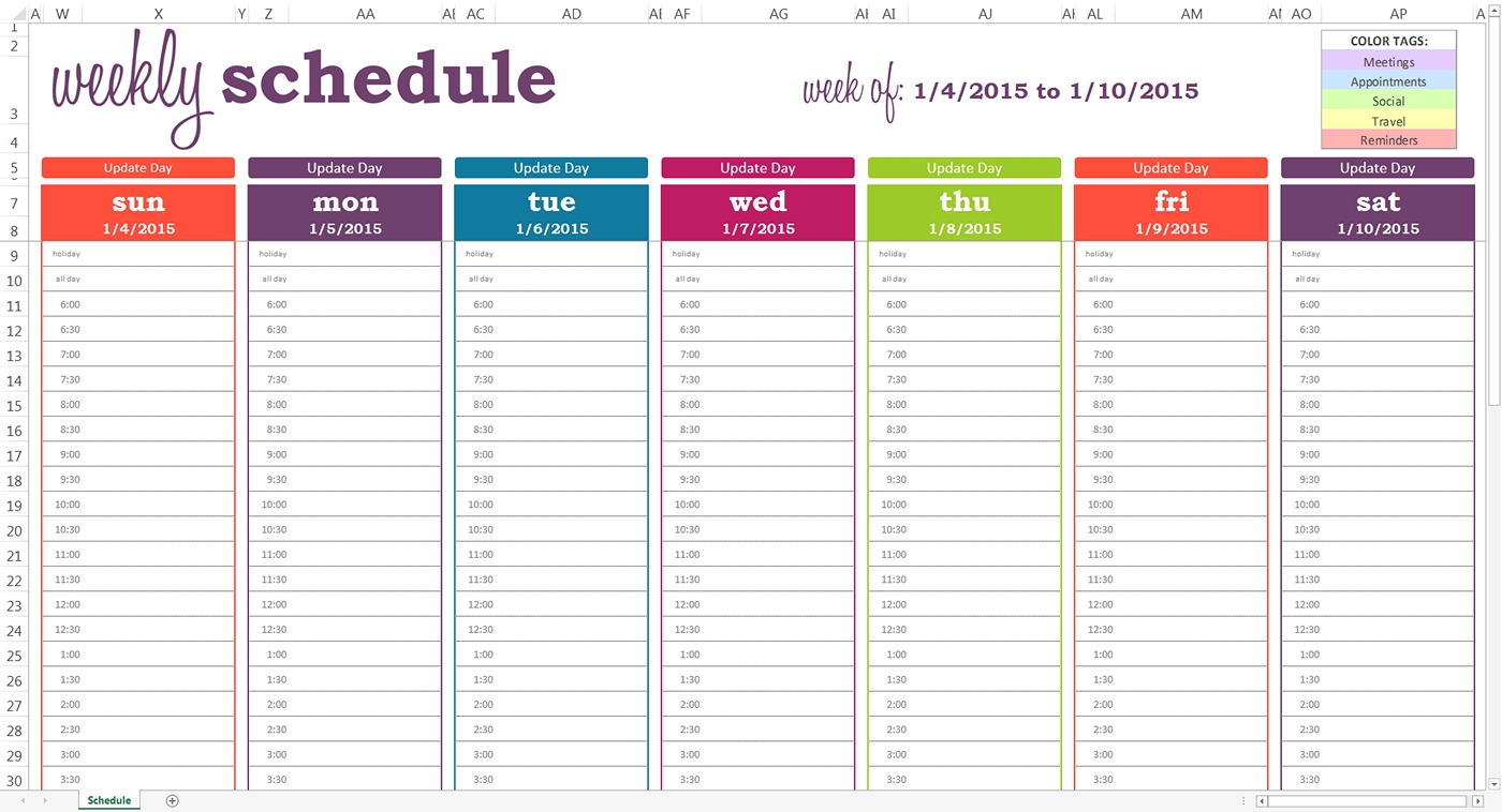 Daily Planner With Time Slots Template – Printable June July_Blank Calendar With Time Slots