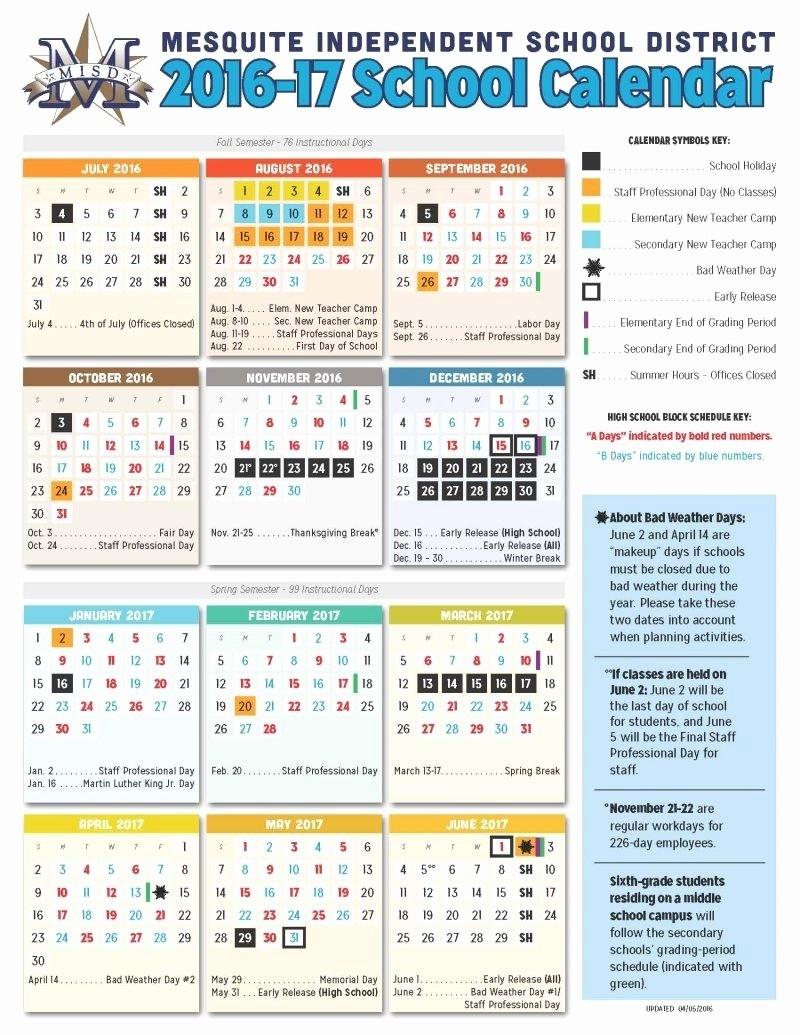 Dallas Isd Calendar 2017 18 Dallas Isd Calendar 2017 18 Mesquite Isd_School Calendar Dallas Isd