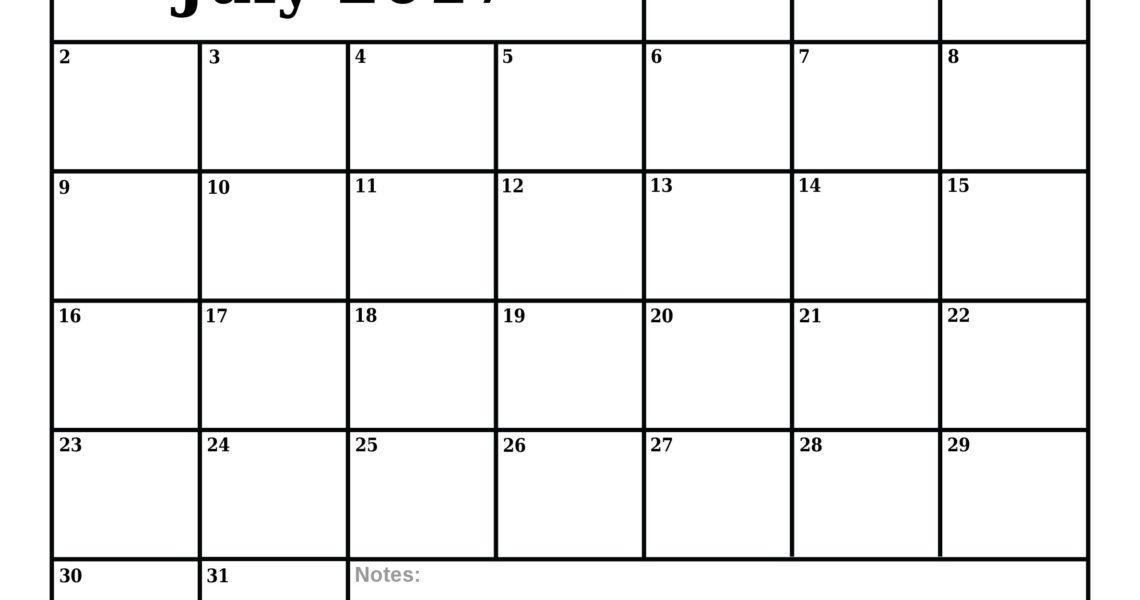 Dashing Blank Calendar July 17 • Printable Blank Calendar Template_Blank Calendar July 17