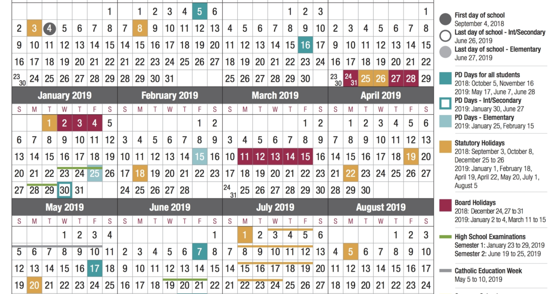 Dashing District 8 School Calendar Saint John • Printable Blank_District 8 School Calendar Saint John