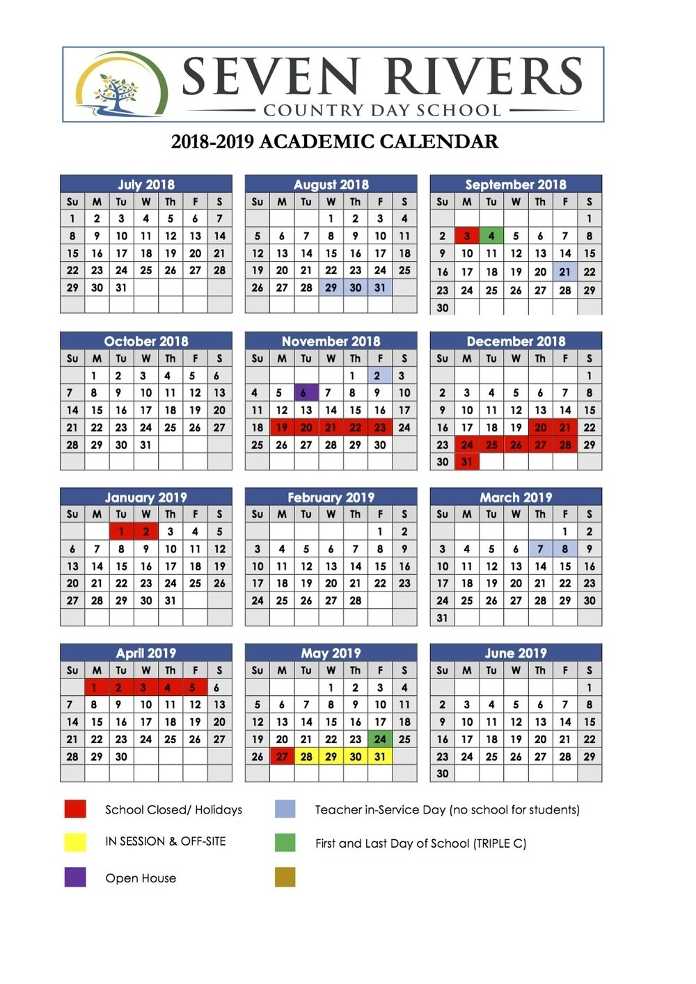 Dashing E Rivers School Calendar • Printable Blank Calendar Template_E Rivers School Calendar