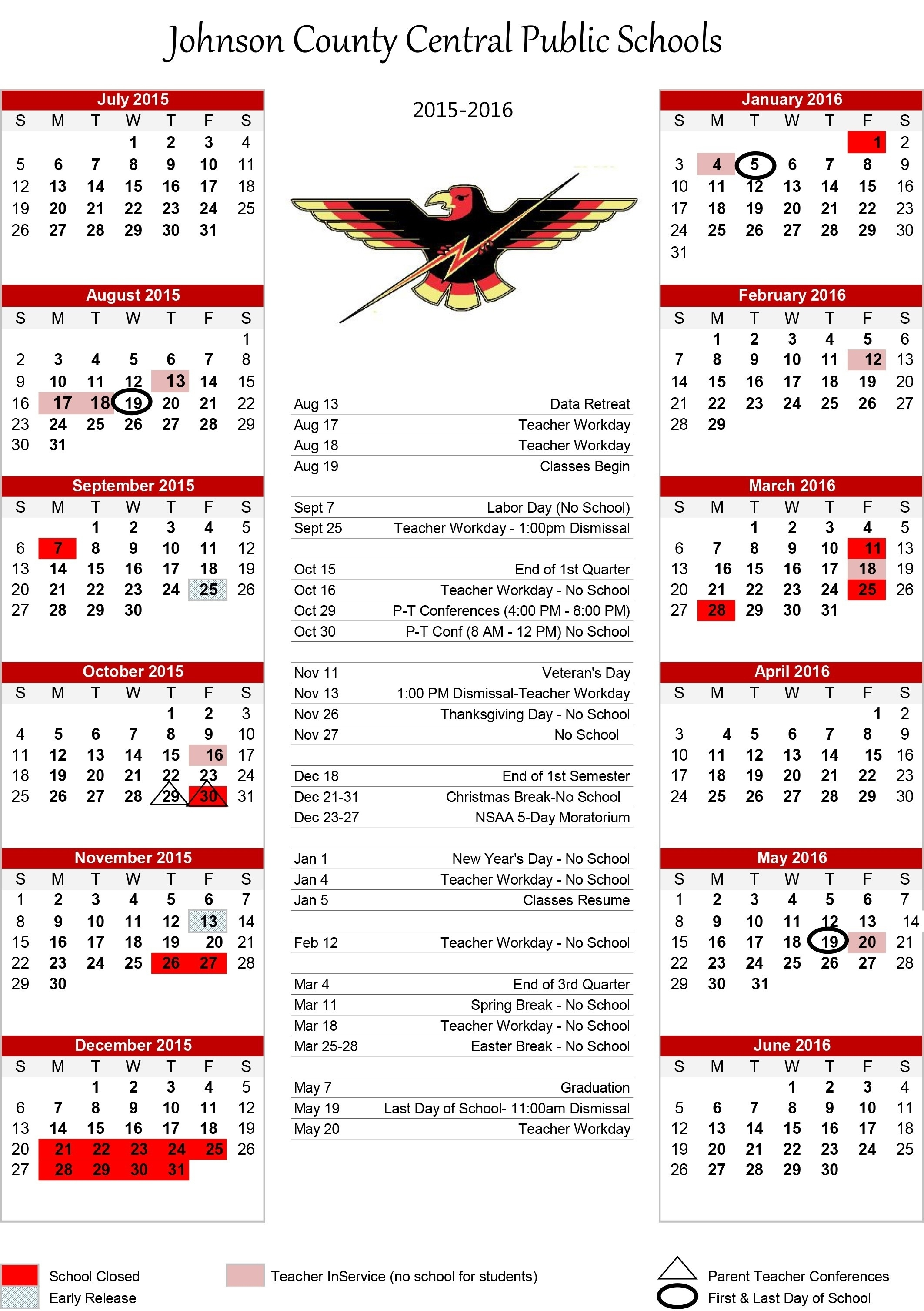 Dashing School Calendar Johnston County Nc • Printable Blank_School Calendar Johnston County Nc
