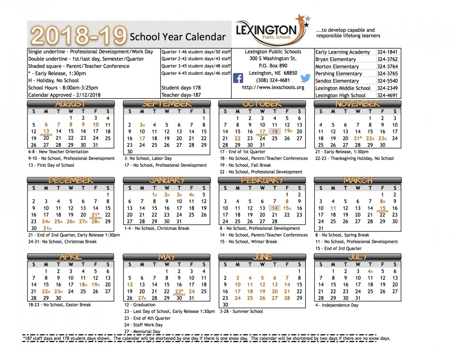 Dashing School Calendar Lexington Ky • Printable Blank Calendar Template_School Calendar Lexington Ky