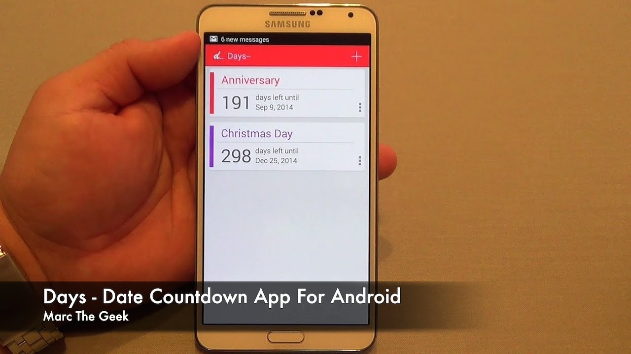 Days - Date Countdown App For Android_Calendar Countdown On Iphone