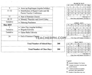 Deped School Calendar For School Year 2018-2019 - Teacherph_School Calendar 2020 To 2020 Deped