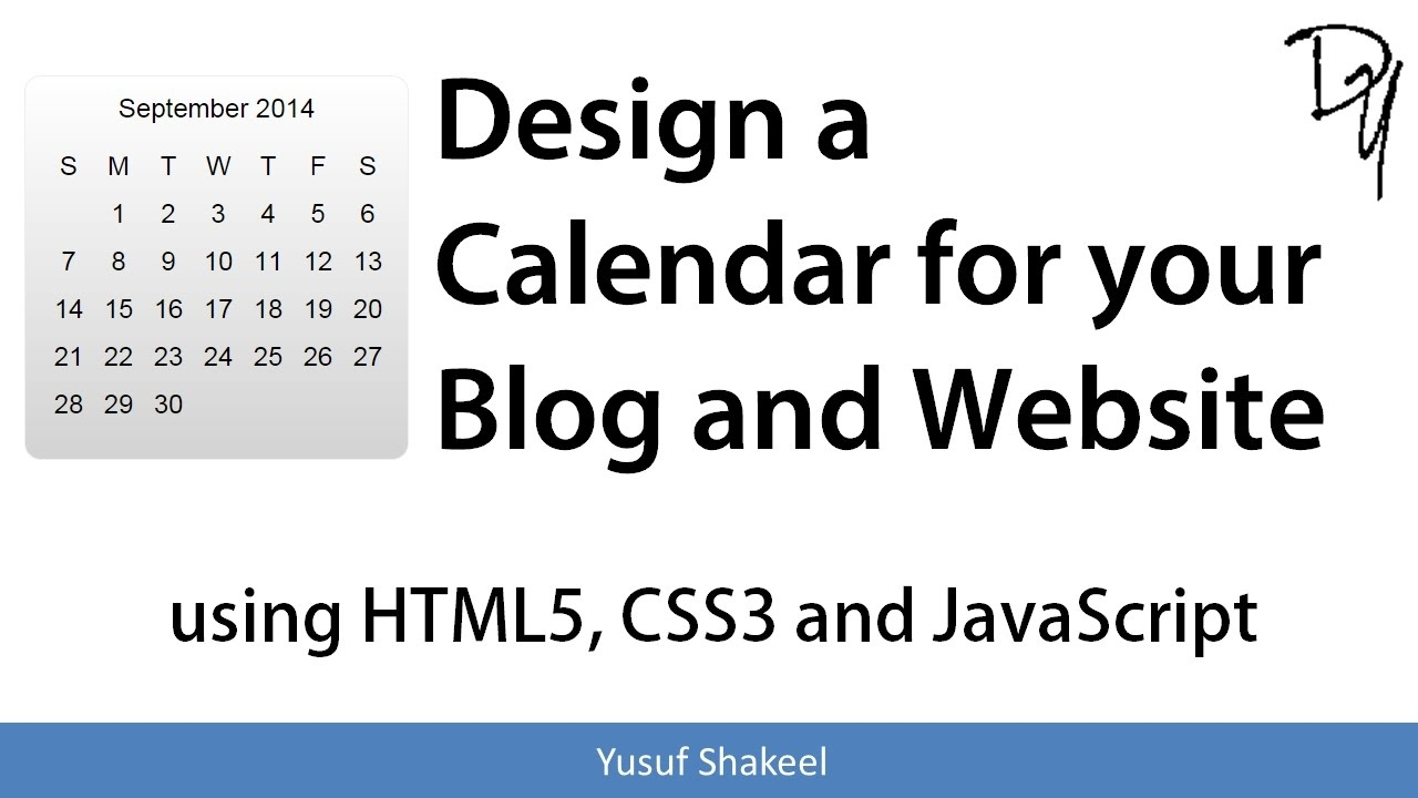 Design A Calendar For Your Blog And Website Using Html5 Css3 And Javascript_Printing Calendar In Javascript