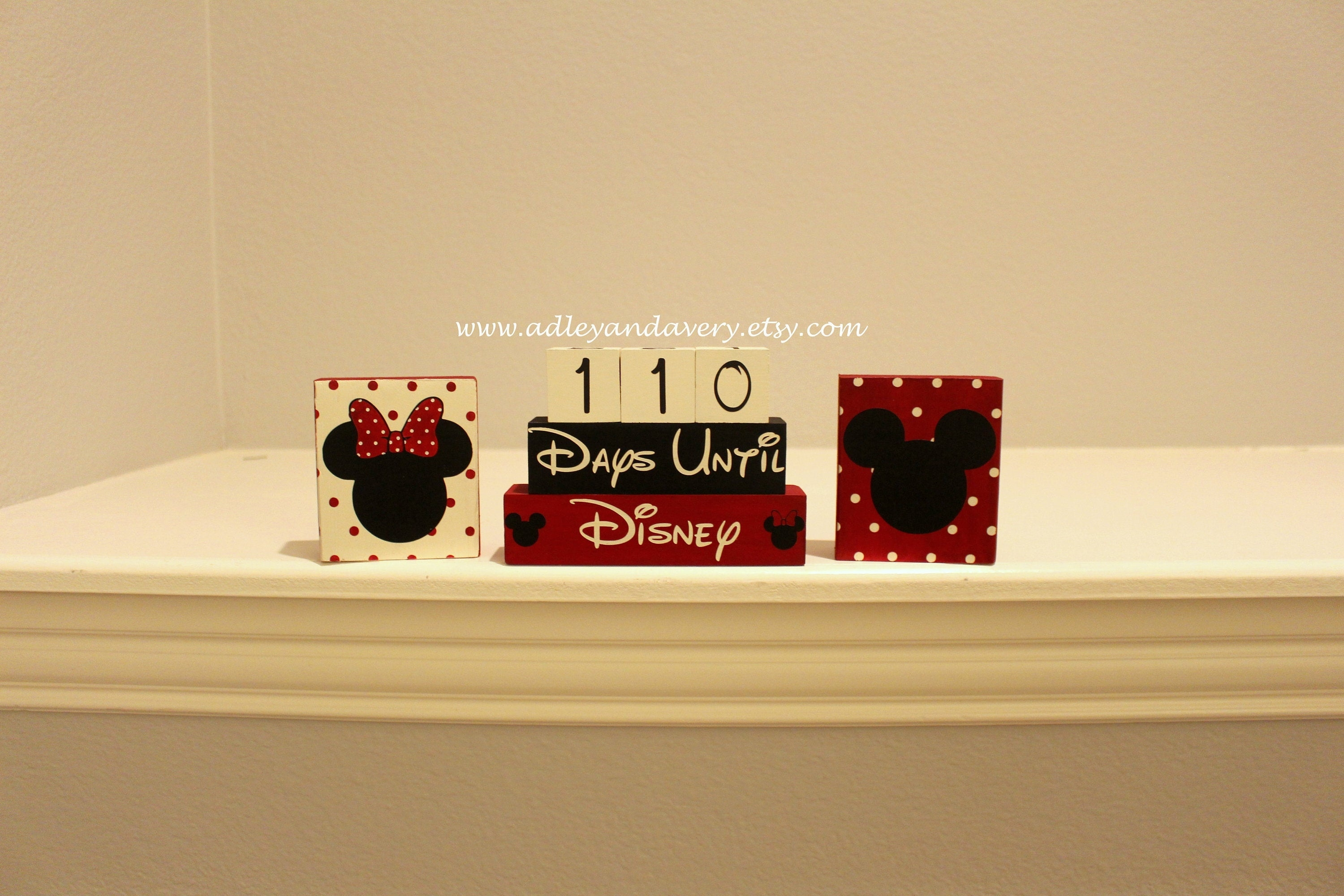 Disney Countdown Blocks, Calendar Blocks, Disney Blocks, Countdown Blocks,  Disney Vacation, Countdown To Disney_Disney Countdown Calendar Blocks