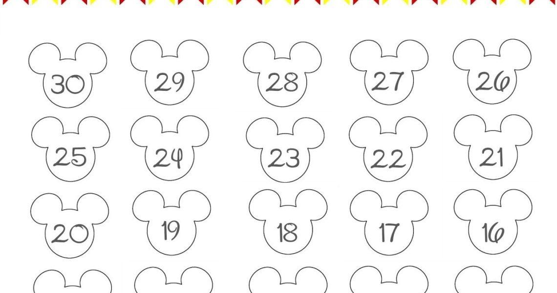 Disney World Countdown Calendar - Free Printable | The Momma Diaries_Countdown Calendar Free Printable