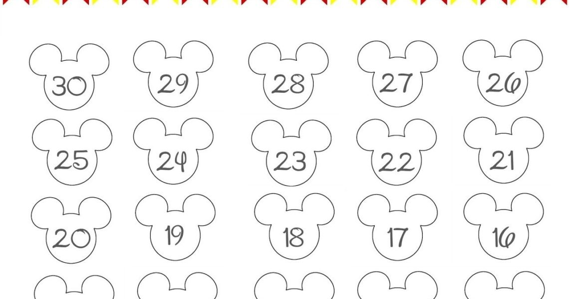 Disney World Countdown Calendar - Free Printable | The Momma Diaries_Make Calendar Countdown Printable