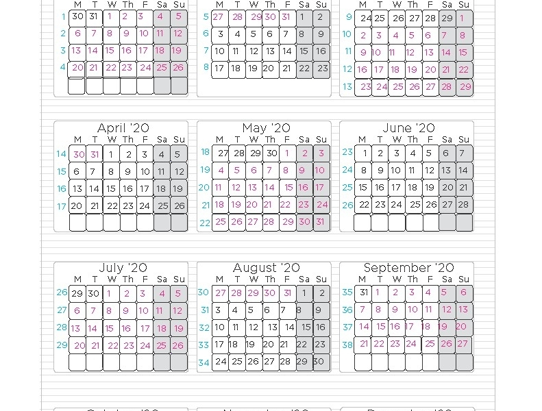 District 7 School Calendar 2020-19 | Calendar Design Ideas_Calendar For School Year 2020-19