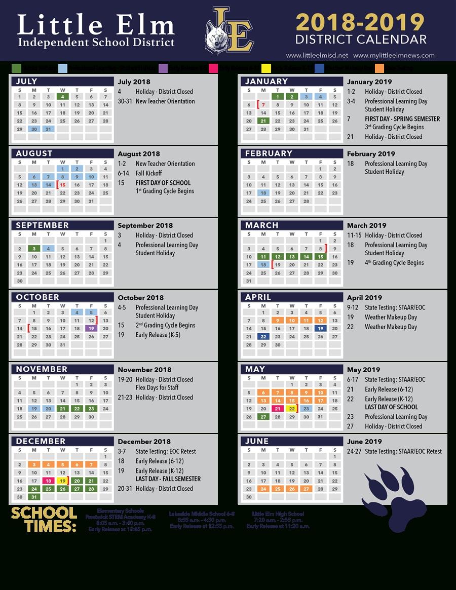 District Calendar / Academic Calendar_District 8 School Calendar