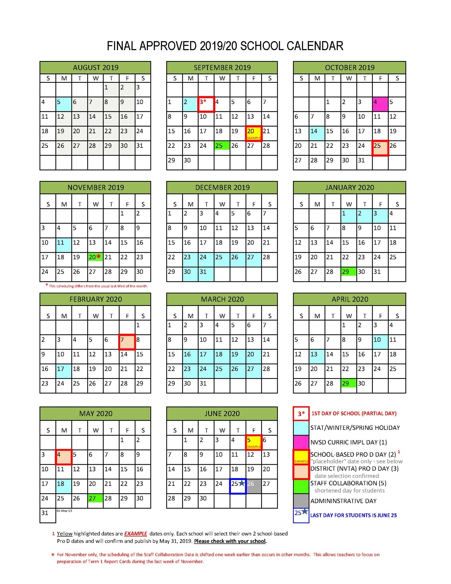 District Calendar - North Vancouver School District_3 Term School Calendar 2020