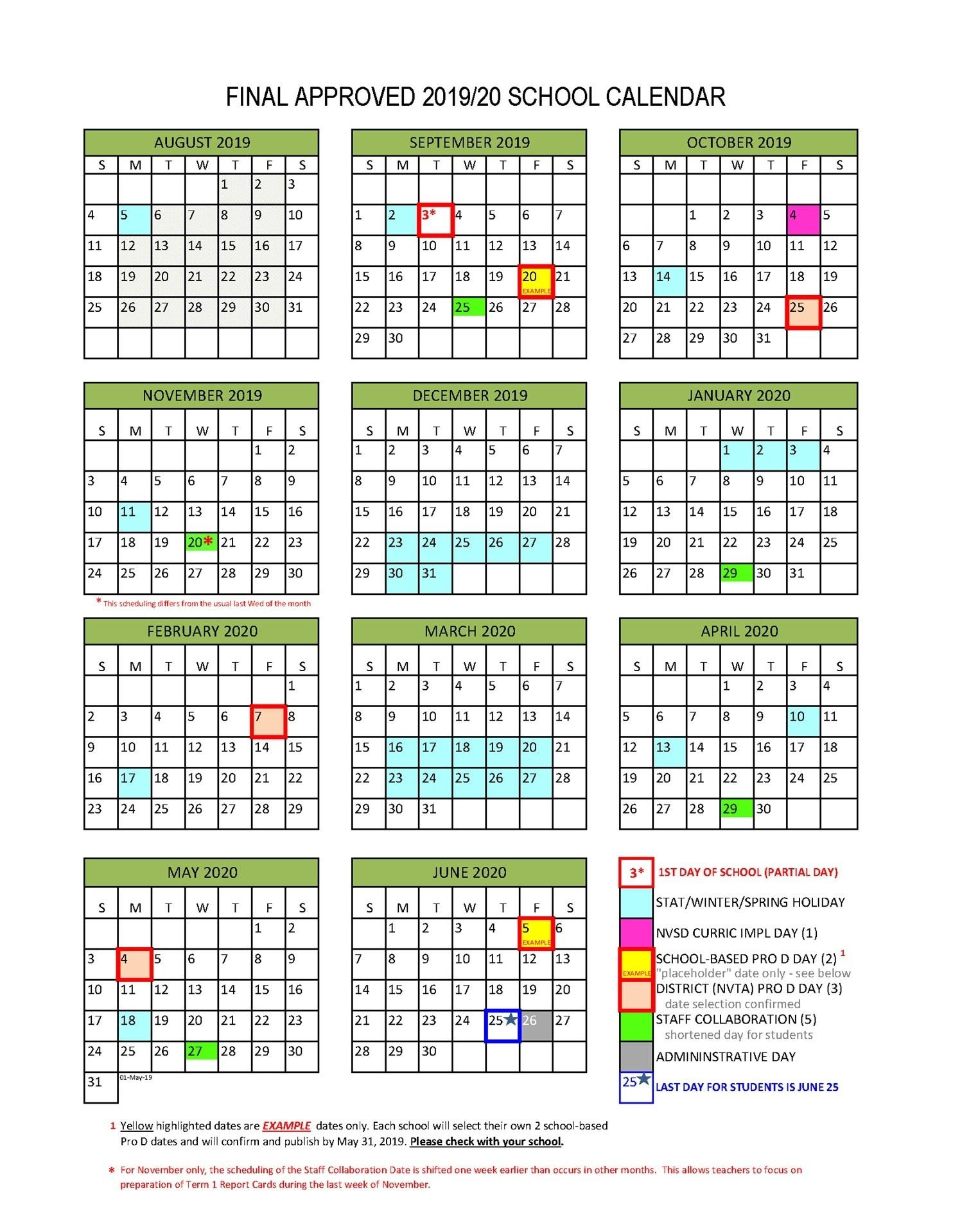 District Calendar - North Vancouver School District_3 Term School Calendar 2020