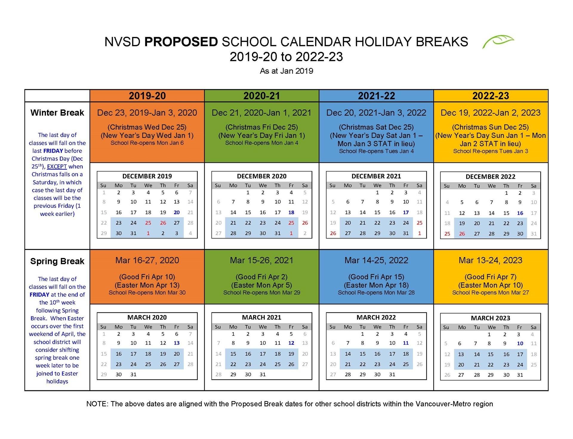 District Calendar - North Vancouver School District_Calendar Vancouver School District