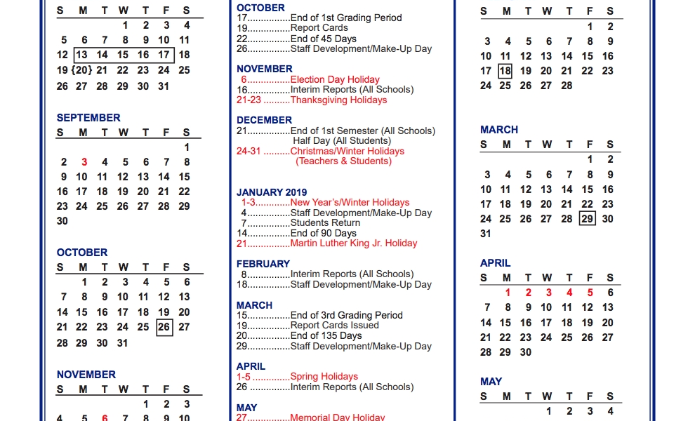 District Calendar – Parents – West View Elementary_Spartanburg 6 School Calendar
