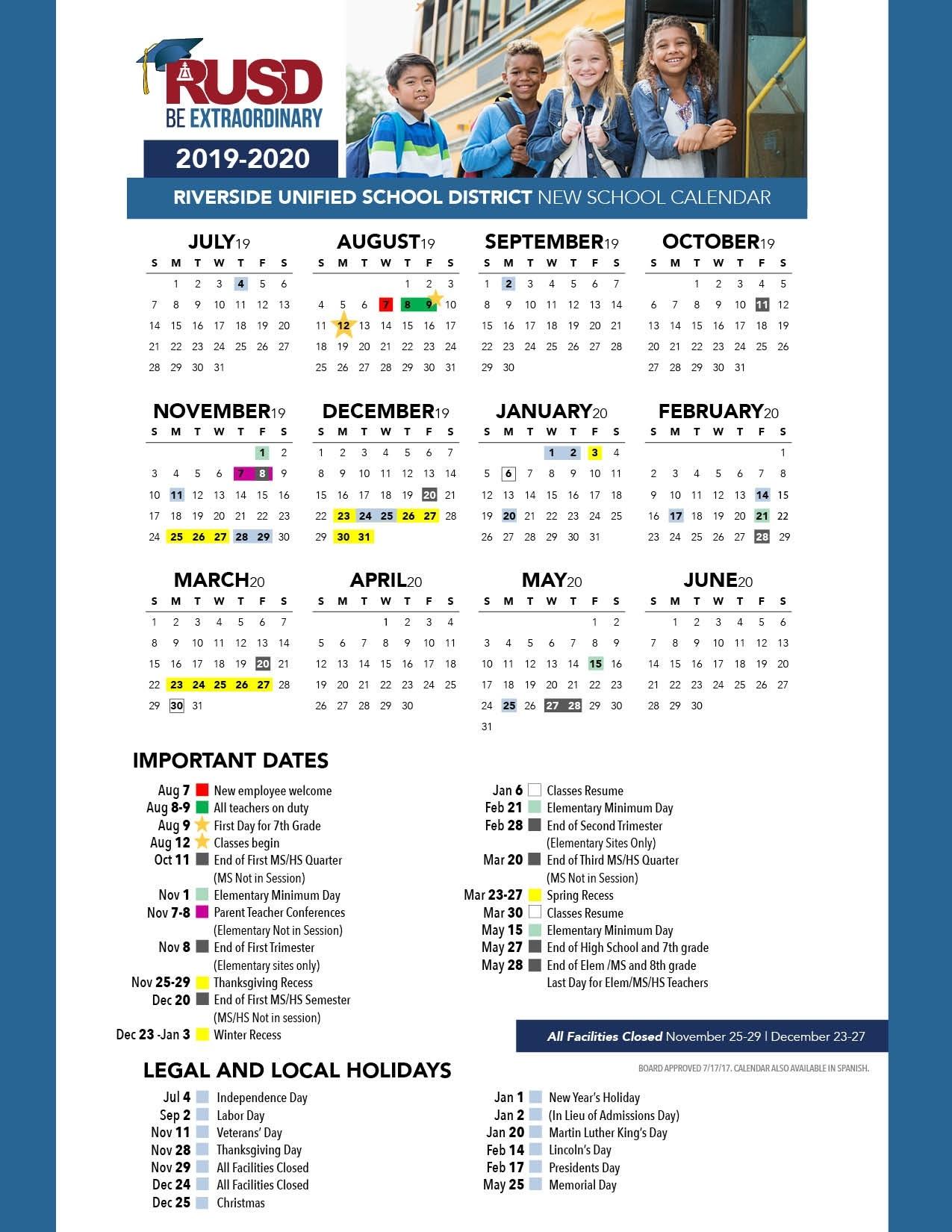 District Calendar - Riverside Unified School District_B Tech High School Calendar