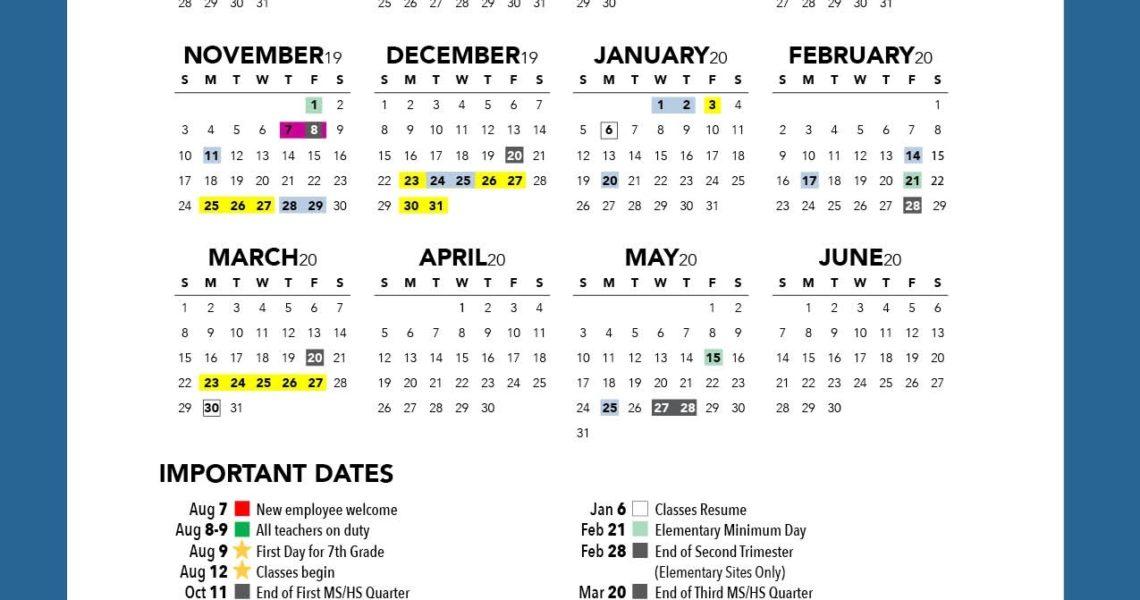 District Calendar - Riverside Unified School District_Calendar Riverside School Board