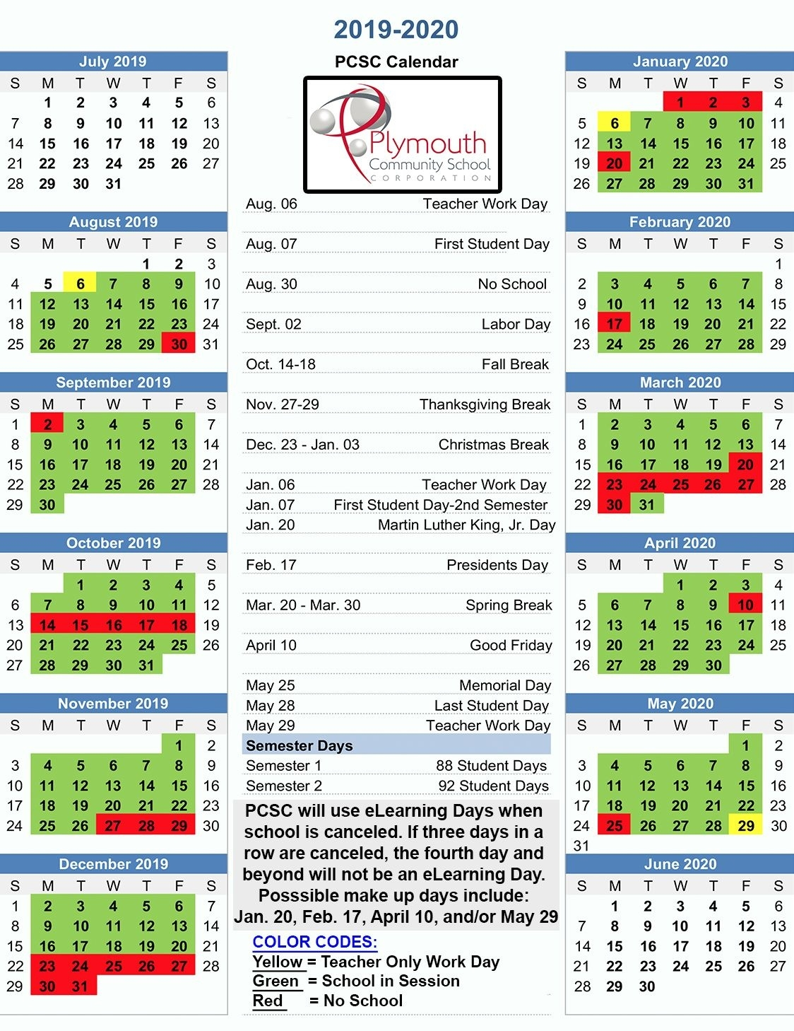 Download A Copy Of The Recently Approved 2019-2020 Pcsc Balanced_Calendar Of School Activities 2020