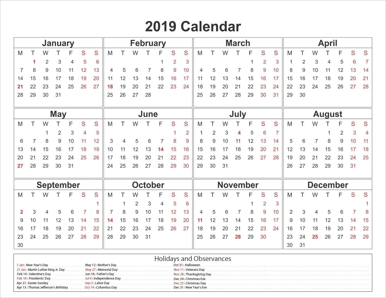 Easter Countdown Calendar 2019 • Printable Blank Calendar Template_Easter Countdown Calendar 2019