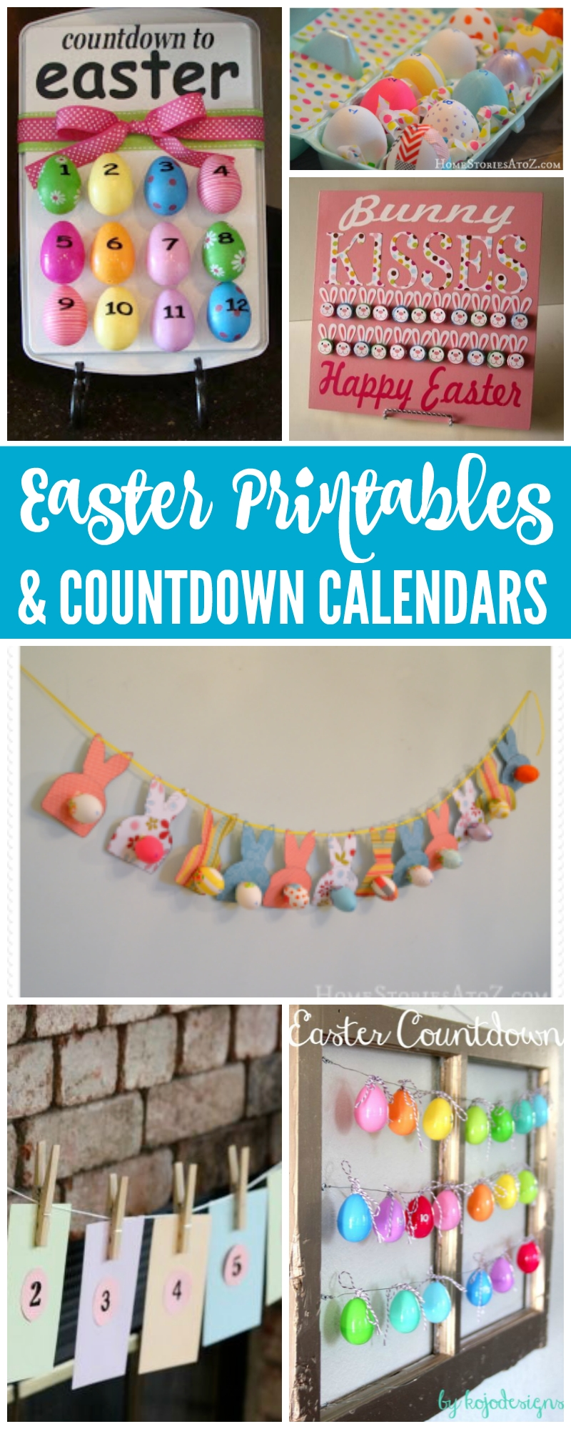 Easter Countdown Calendars & Free Printables! Such A Fun Way To_Easter Countdown Calendar 2019