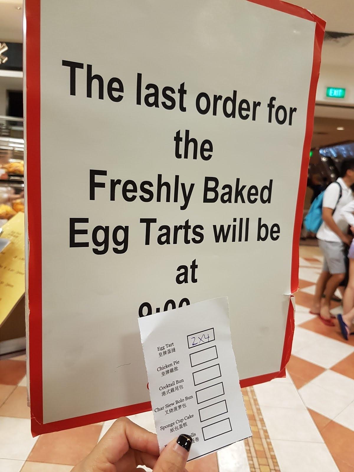 Eats] Warm, Crispy Tai Cheong Egg Tarts ( Takashimaya, Orchard_Tai Cheong Calendar Printing Ltd