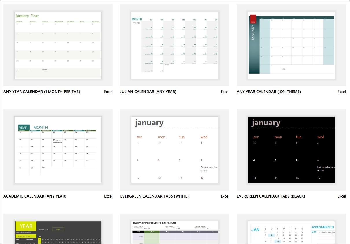 Excel Calendar Templates - Excel_Blank Calendar Excel Format