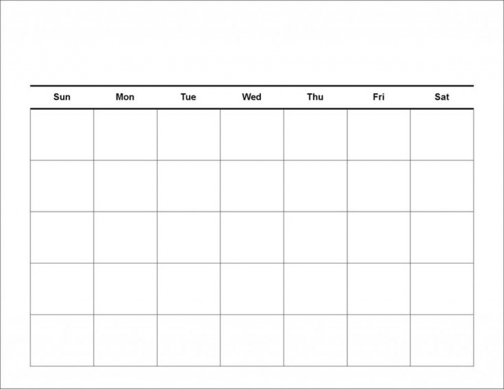 Exceptional 4 Week Calendar Blank • Printable Blank Calendar Template_4 Week Calendar Blank