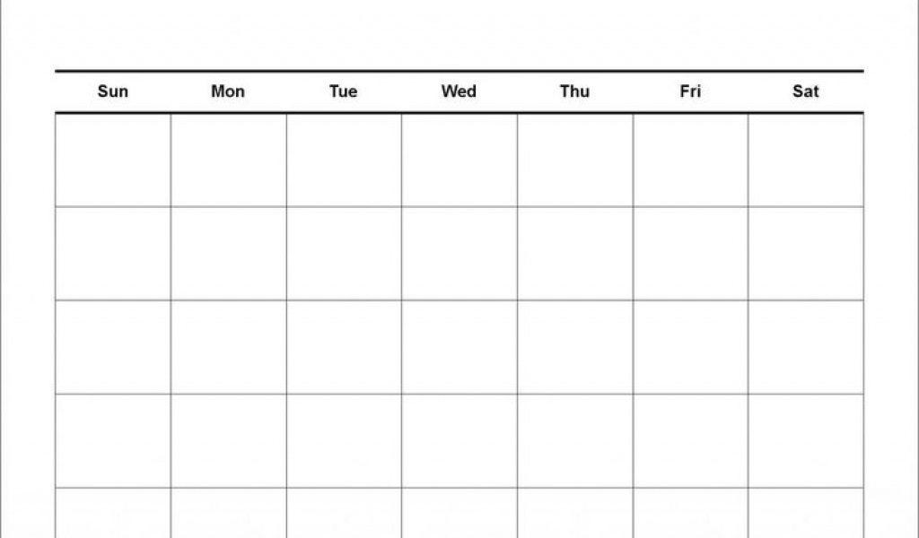 Exceptional 4 Week Calendar Blank • Printable Blank Calendar Template_Blank Calendar 4 Weeks
