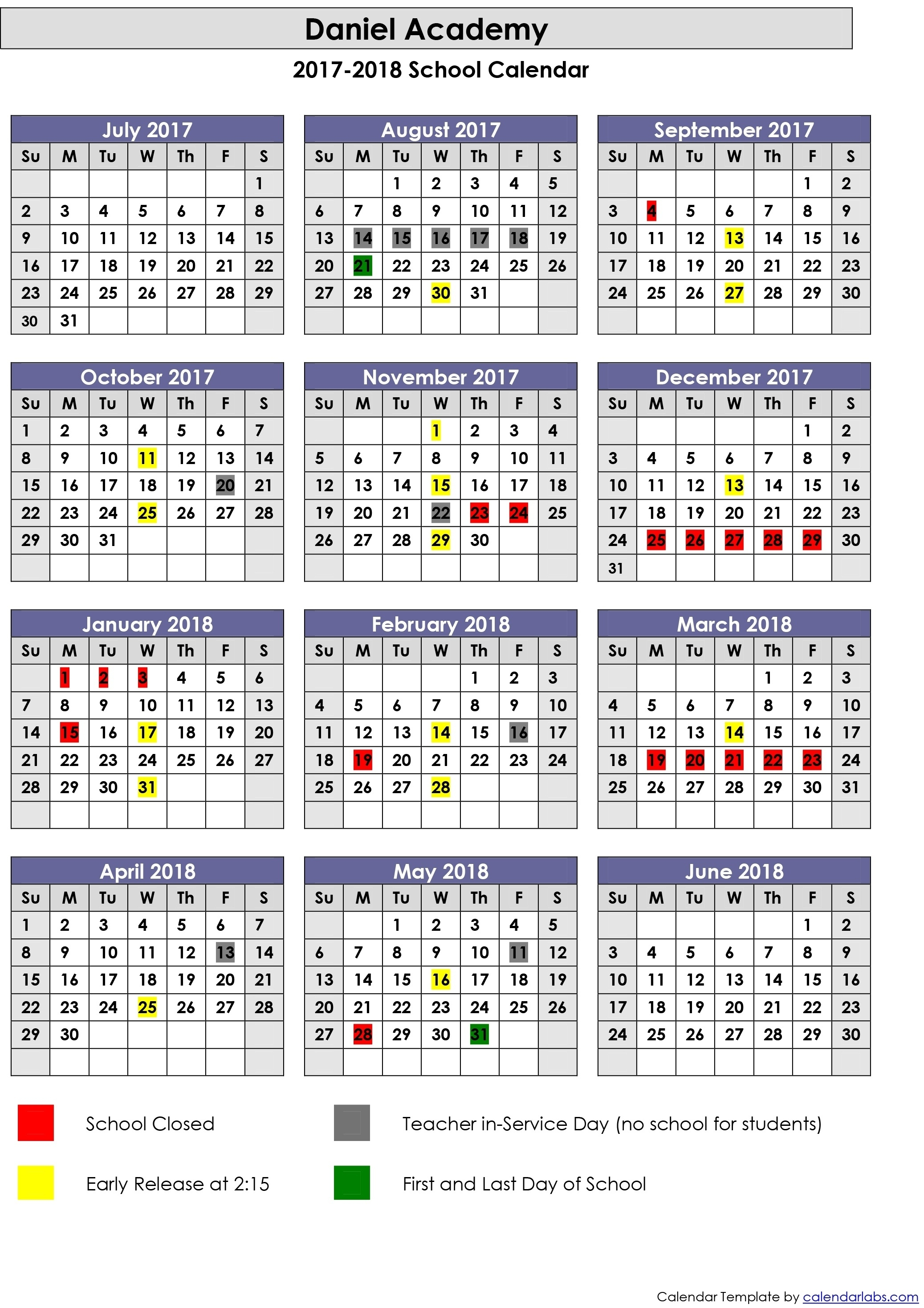 Exceptional School Calendar For Duval County • Printable Blank_School Calendar For Duval County