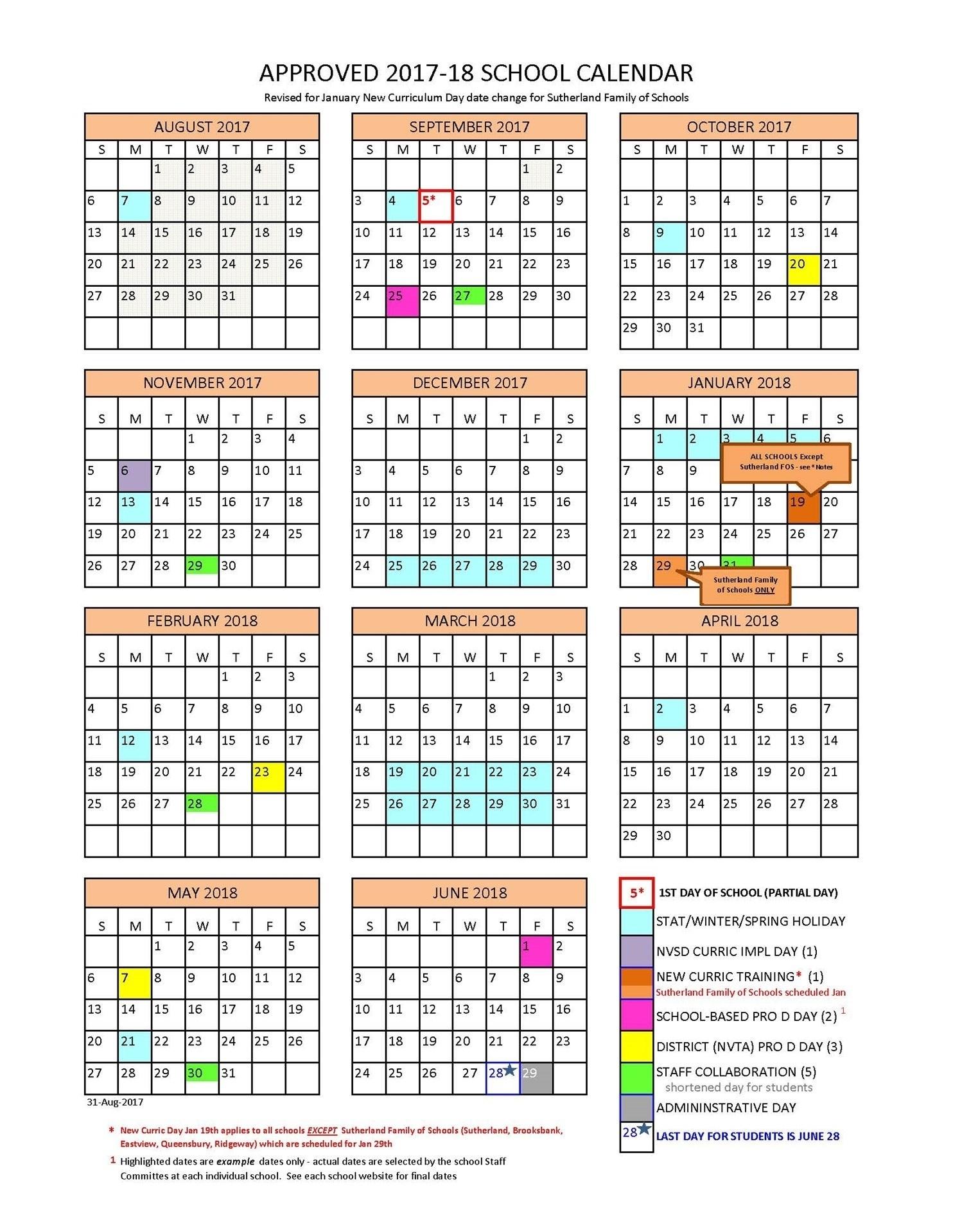 Exceptional T/e Middle School Calendar • Printable Blank Calendar_T/e Middle School Calendar