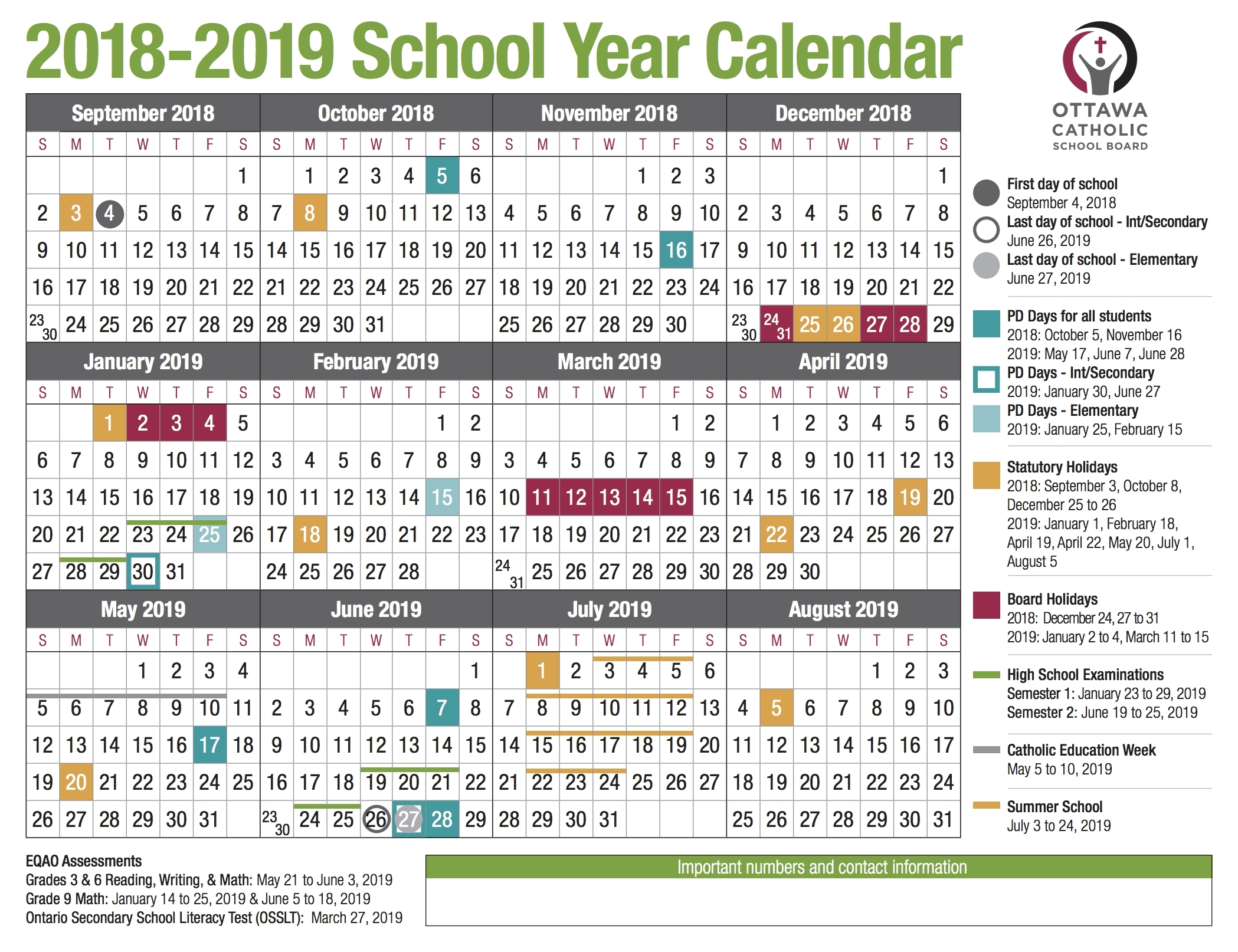 Exceptional T Or C School Calendar • Printable Blank Calendar Template_T Or C School Calendar