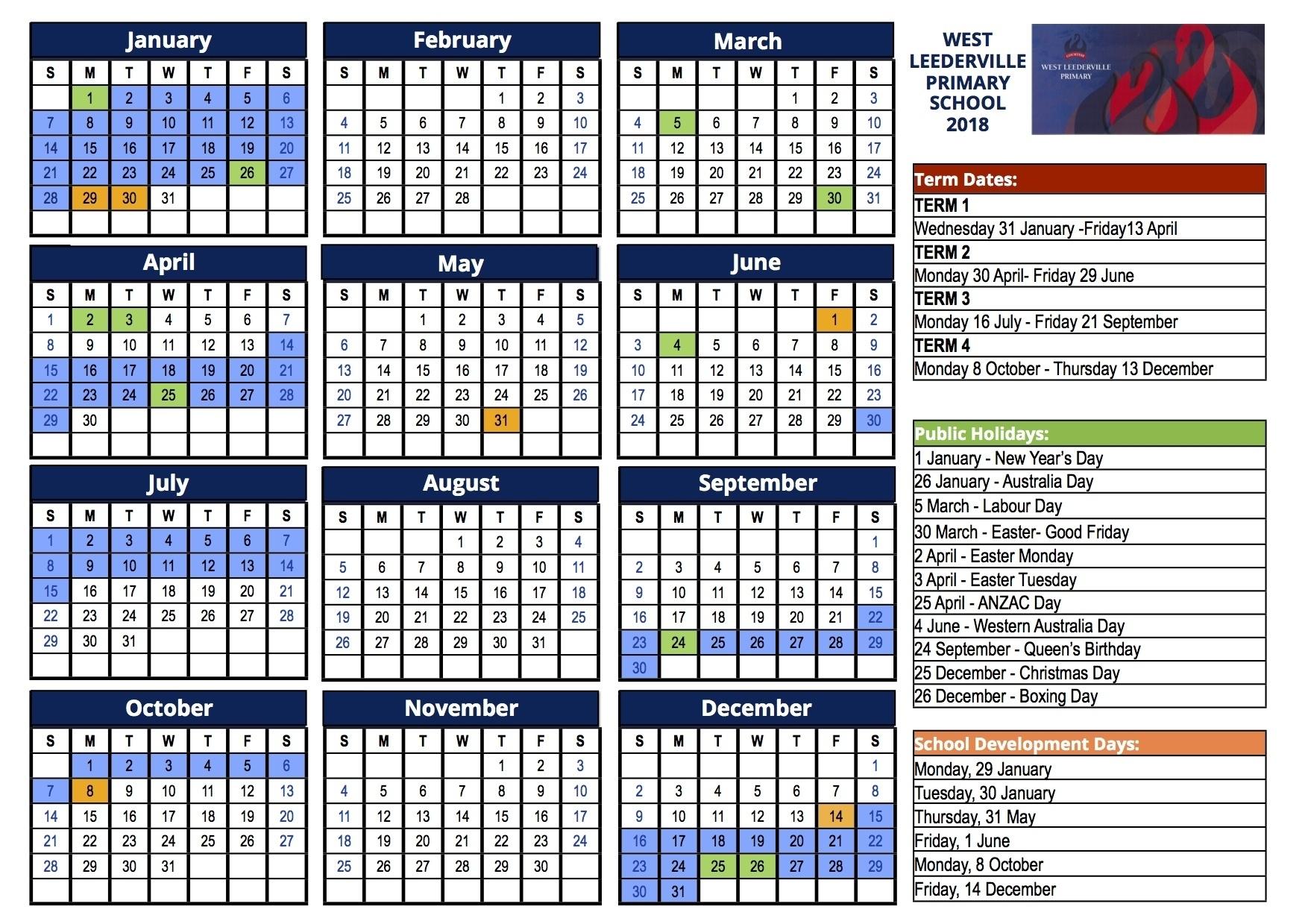 Exceptional Term 4 School Calendar • Printable Blank Calendar Template_Term 4 School Calendar
