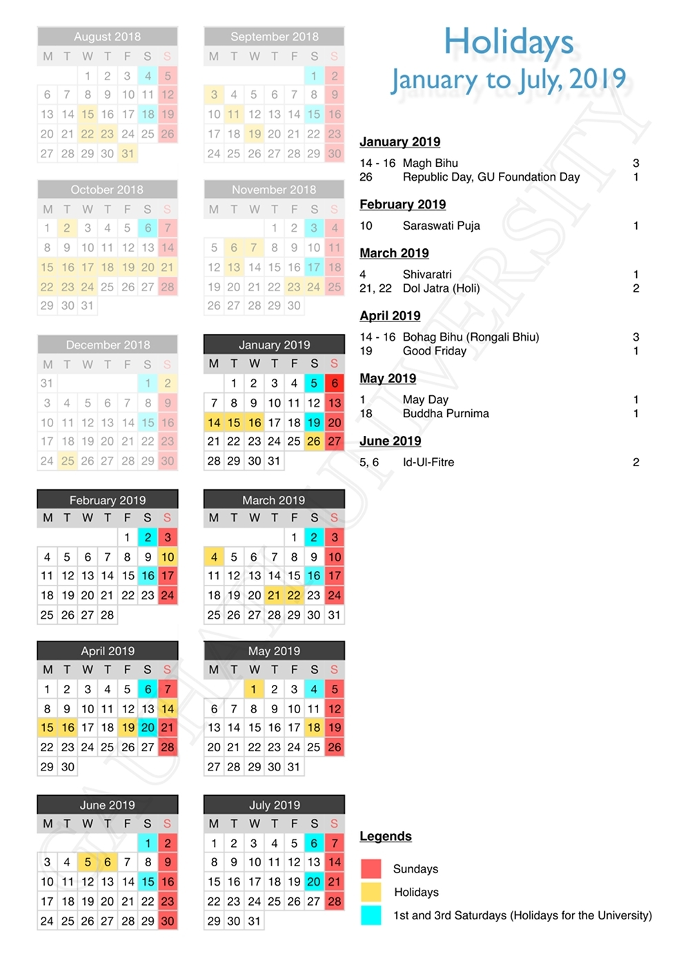 Exceptional U Of H School Calendar 2019 • Printable Blank Calendar_U Of H School Calendar