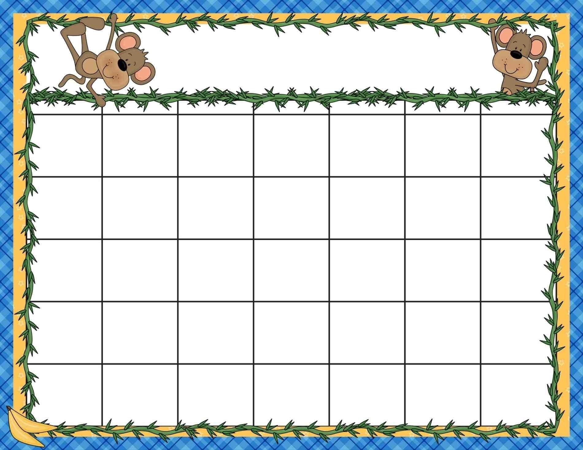 Extraordinary Blank Calendar Template Kindergarten • Printable Blank_Blank Calendar Template Kindergarten