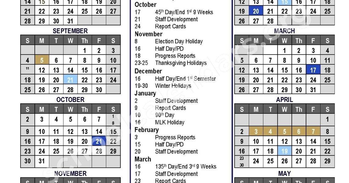 Extraordinary District 7 School Calendar • Printable Blank Calendar_District 7 School Calendar