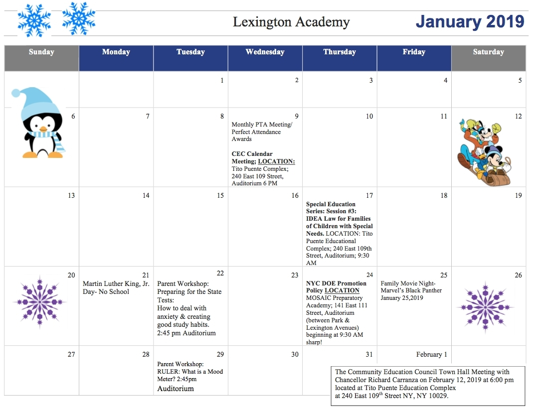 Extraordinary Lex 5 School Calendar • Printable Blank Calendar Template_Lex 5 School Calendar