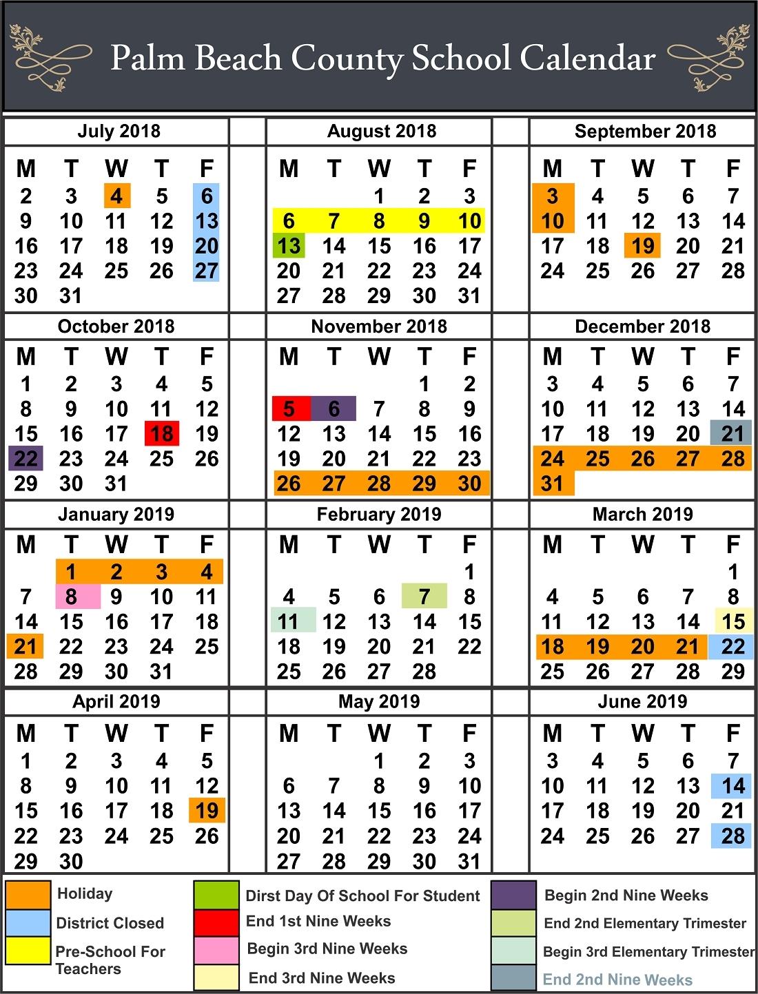 Extraordinary Onslow County School Calendar 9 Week • Printable Blank_Onslow County School Calendar 9 Week