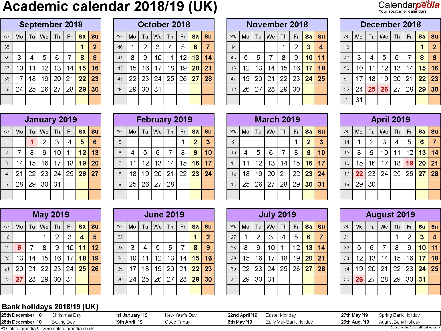 Extraordinary School Calendar 2019/18 Ireland • Printable Blank_School Calendar 2020/19 Ireland