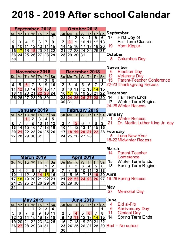 Extraordinary School Calendar In Nyc • Printable Blank Calendar Template_J Allen Axson School Calendar