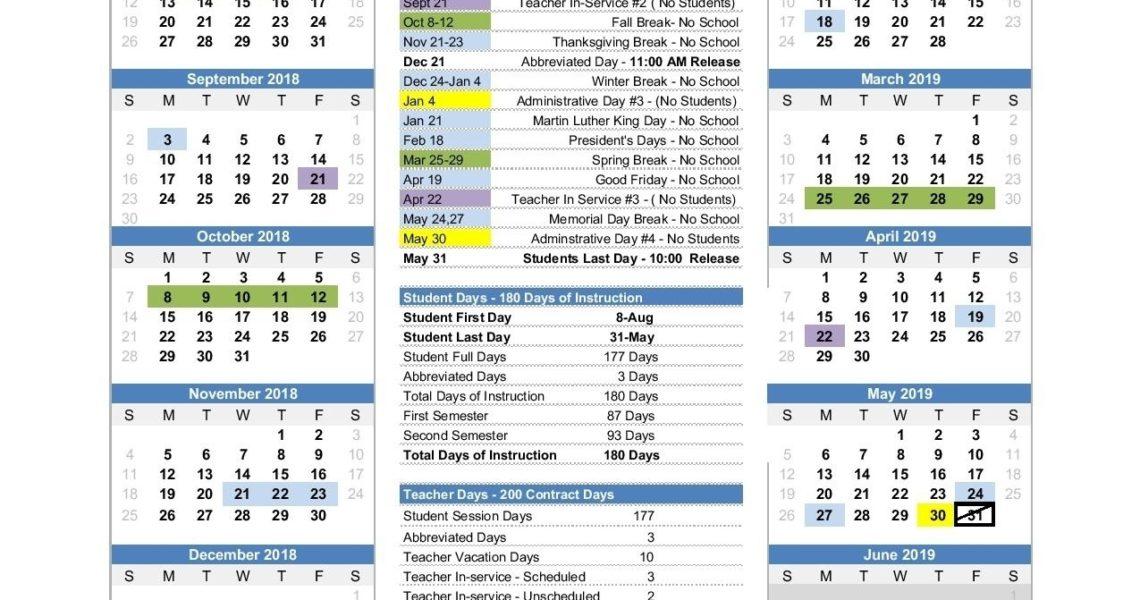 Extraordinary School Calendar Johnson City Tn • Printable Blank_School Calendar Johnson City Tn