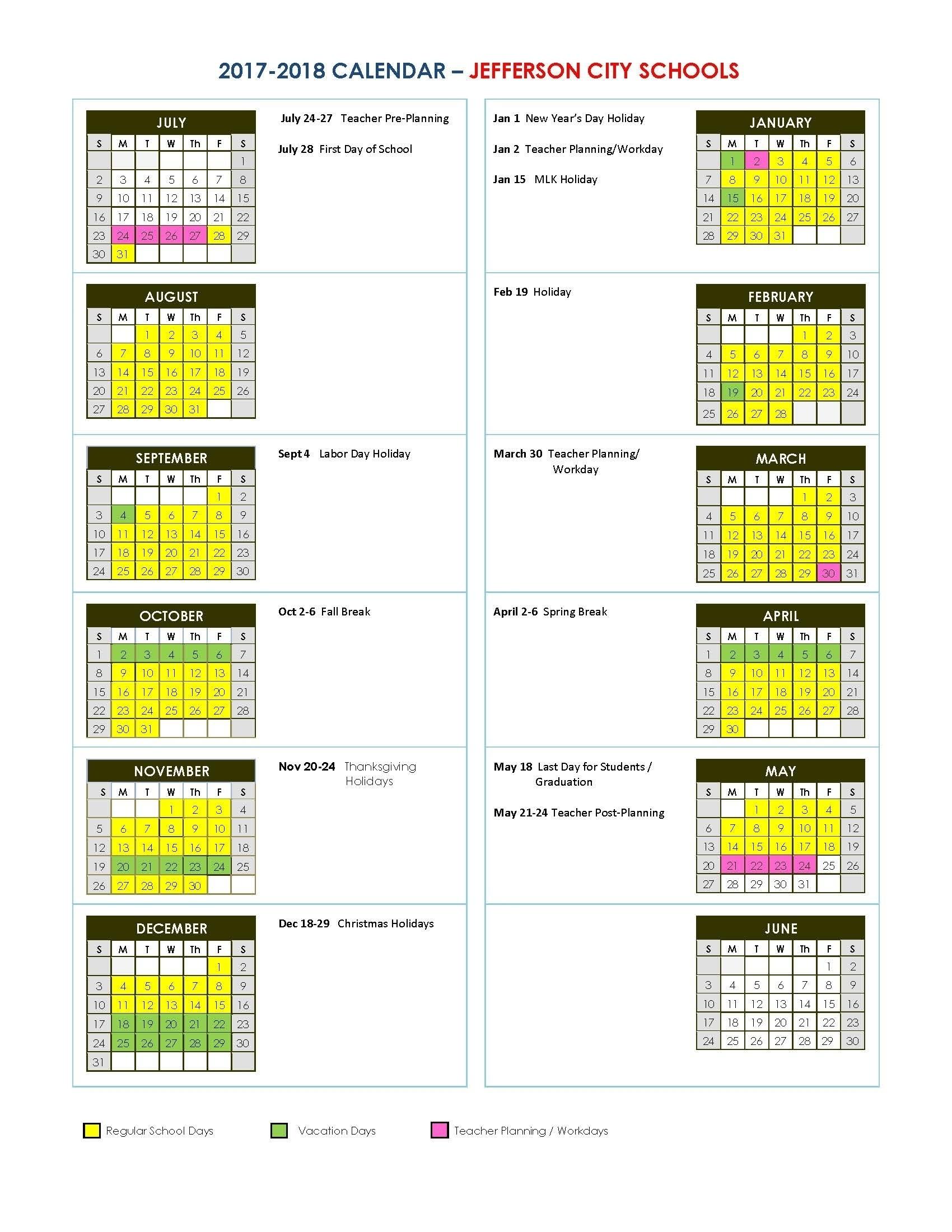 Extraordinary U High School Calendar • Printable Blank Calendar Template_U City School Calendar