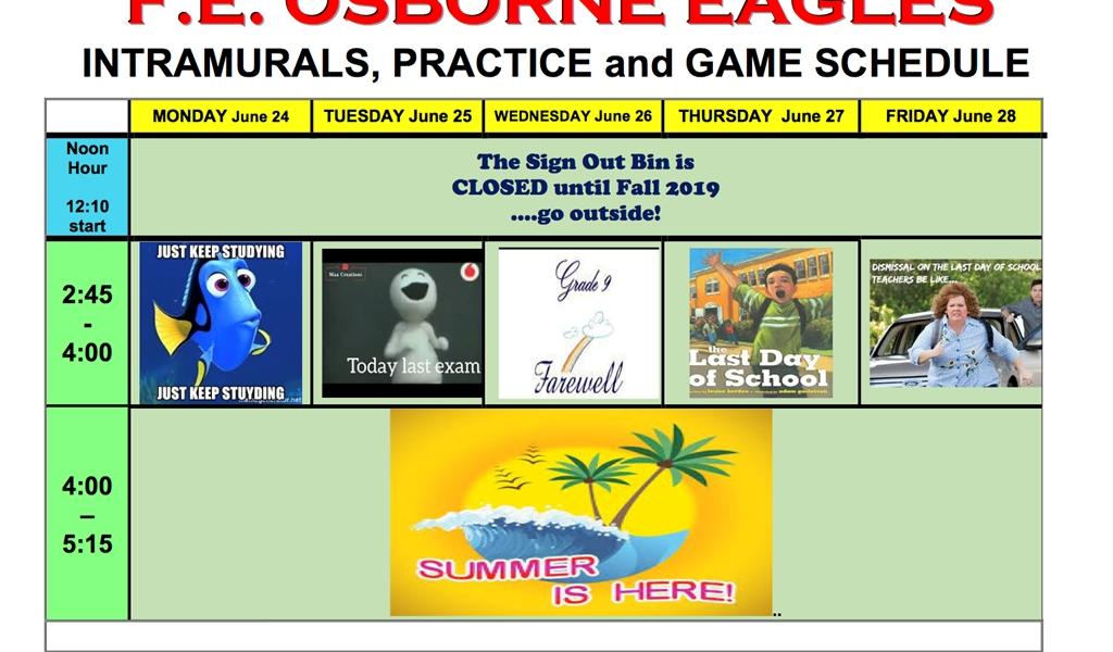 F.e. Osborne School_F E Osborne School Calendar