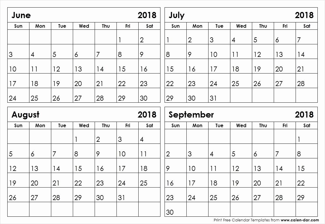 Fine 4 Page Printable Calendar : Mini Calendar Template_Blank Calendar 4 Months Per Page