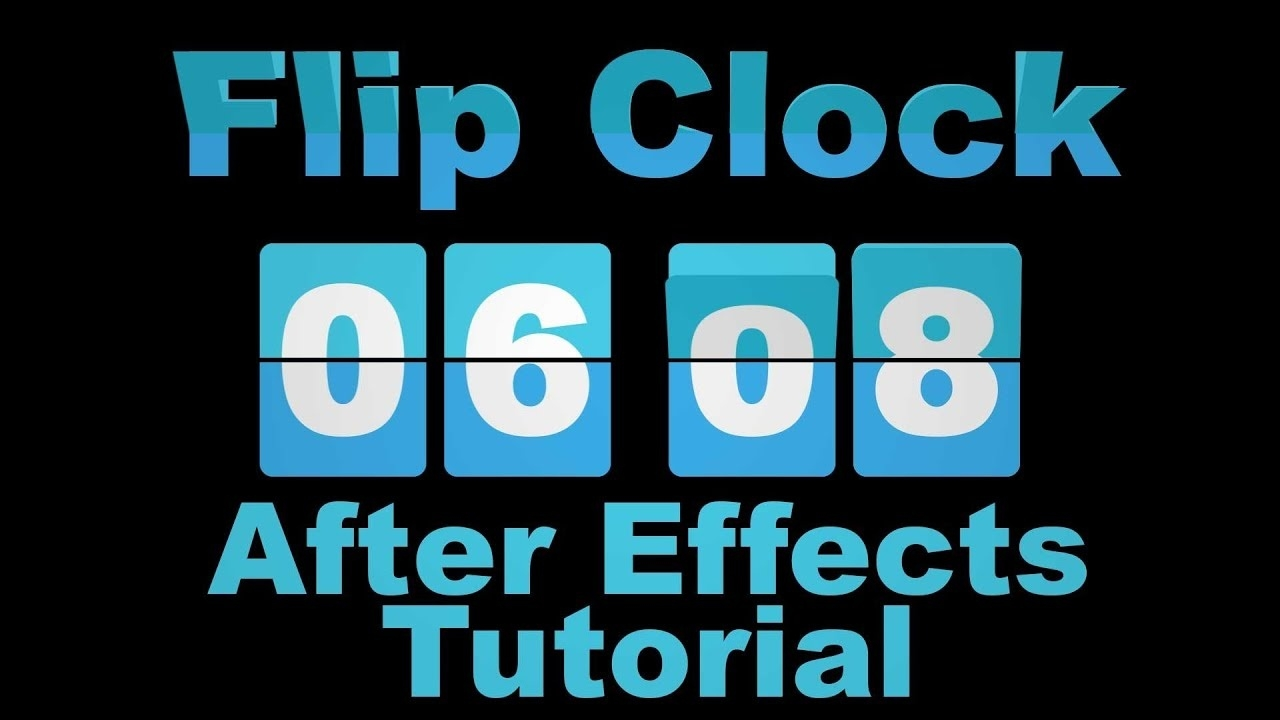 Flip Clock Countdown And Up - Adobe After Effects Tutorial_Calendar Countdown After Effects