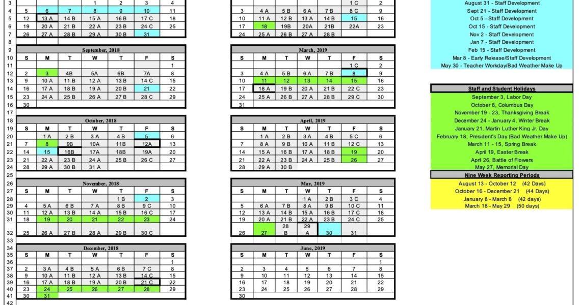 Fox Tech High School - Calendar_B Tech High School Calendar