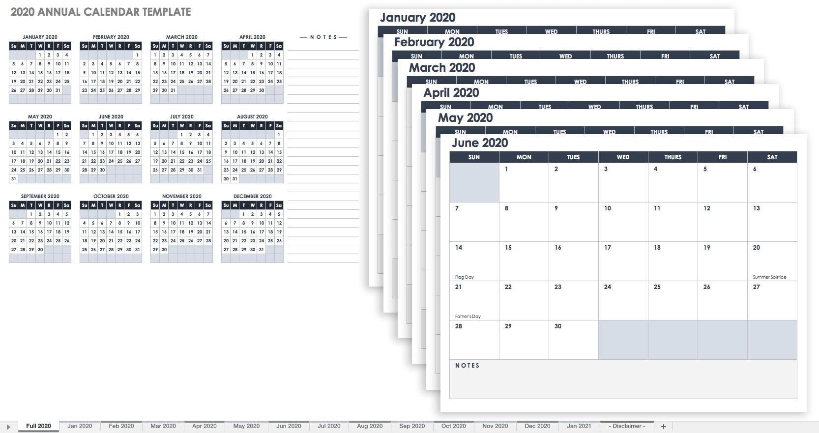 Free Blank Calendar Templates - Smartsheet_Blank Yearly Calendar Template Pdf