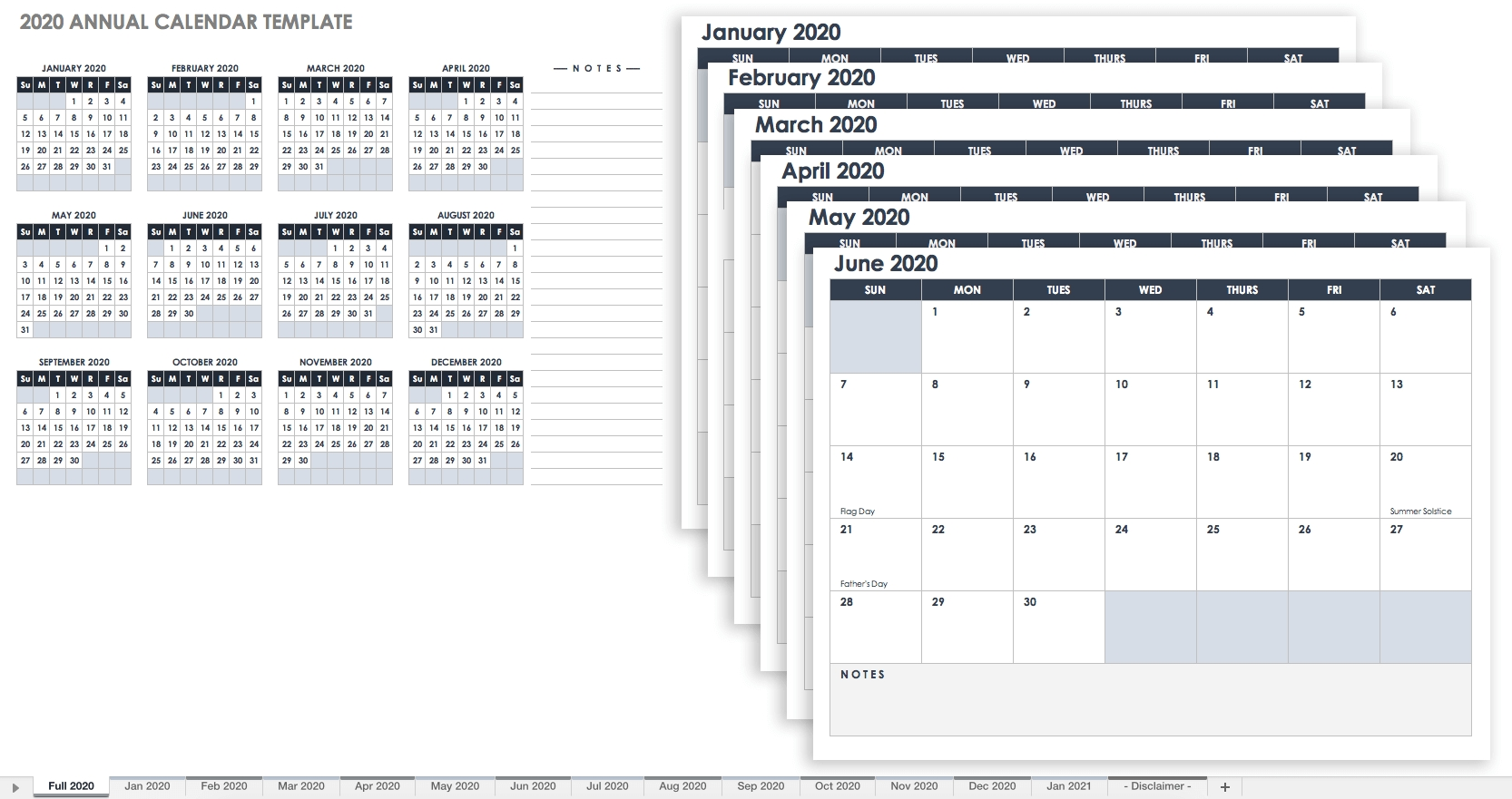 Free Excel Calendar Templates_Blank Calendar 2020 12 Month