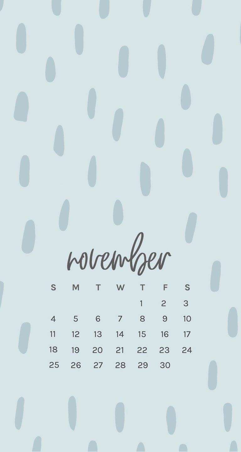 Free November 2018 Iphone Calendar Wallpapers | Phone Wallpapers_Iphone 6 Calendar Printing