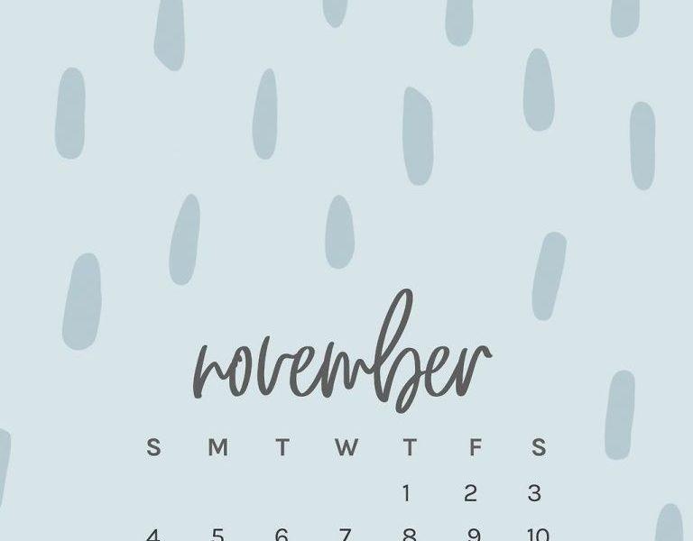 Free November 2018 Iphone Calendar Wallpapers | Phone Wallpapers_Printing Calendar From Iphone 7